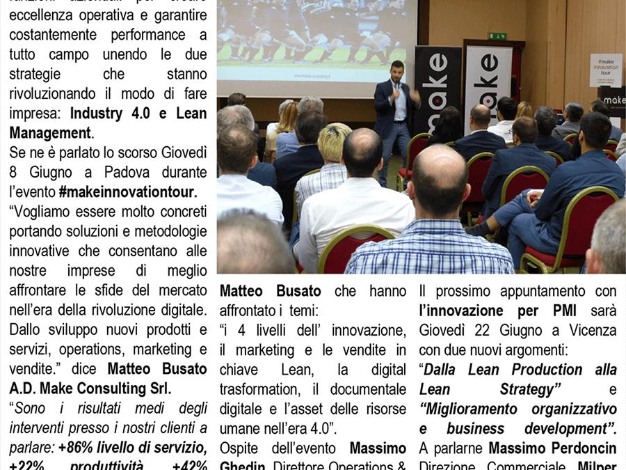 Il Mattino di Padova: Industry 4.0 e Lean Management? Sì grazie!