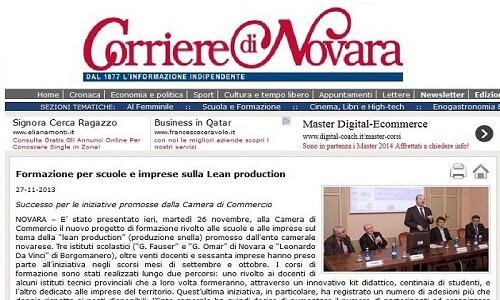 Formazione per scuole e imprese sulla Lean Production