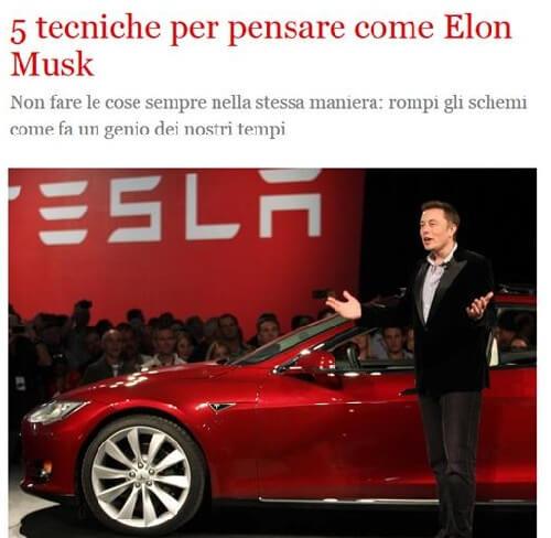 5 tecniche per pensare come Elon Musk