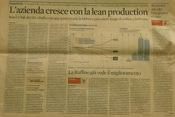 L'AZIENDA CRESCE CON LA LEAN PRODUCTION