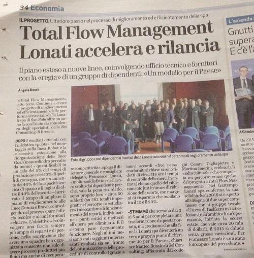 Total Flow Management: Lonati accellera e rilancia