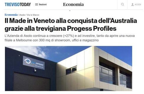 Progess Profiles: il Made in Veneto alla conquista dell'Australia grazie all'azienda trevigiana