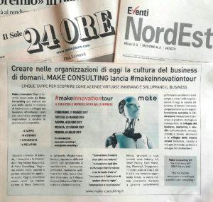 Creare nelle organizzazioni di oggi la cultura del business di domani. make consulting lancia make innovation tour