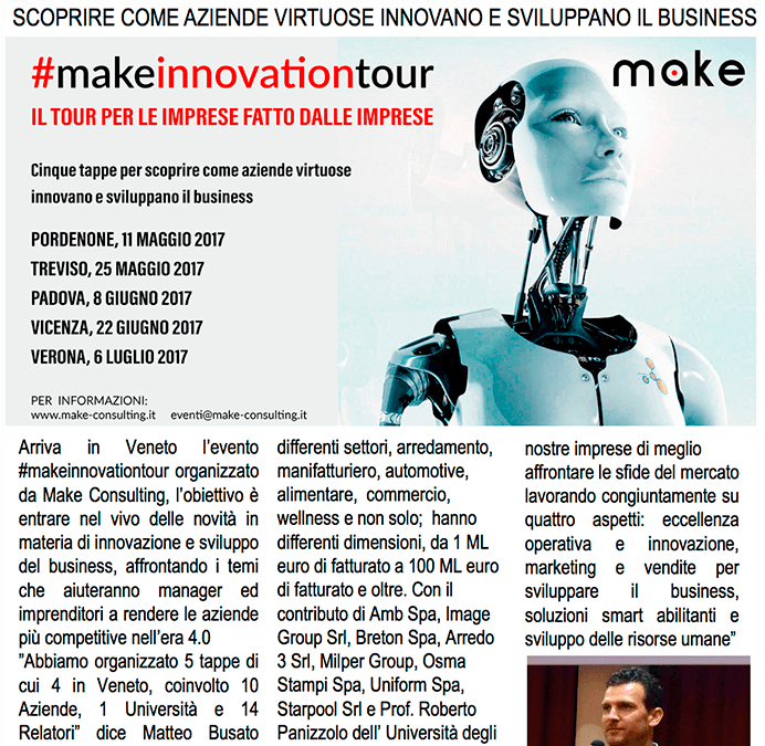 La Nuova Venezia: Make Consulting Srl lancia #makeinnovationtour