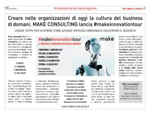 creare business articolo il sole 24 ore make consulting