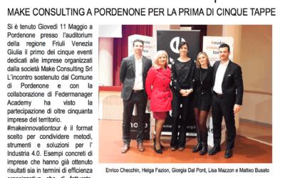 Gazzettino Friuli Venezia Giulia: Parte dal Friuli Venezia Giulia l'evento #makeinnovationtour dedicato alle imprese