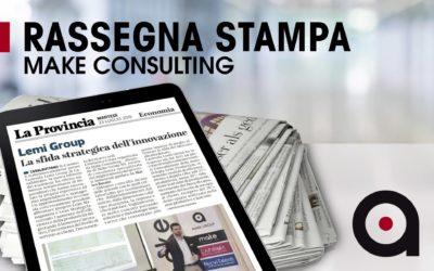 """Make Consulting su """"La Provincia di Cremona"""": Formazione innovativa su metodologia lean"""