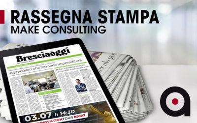 Make Consulting su Brescia Oggi continua l'Innovation Tour