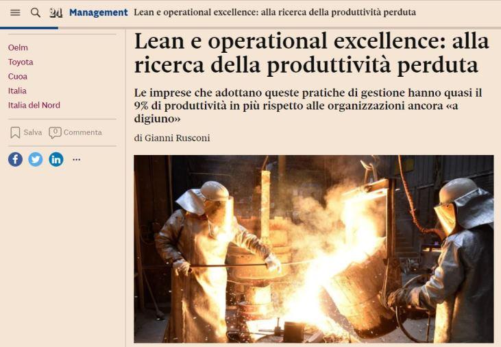 Lean Production Produzione Snella