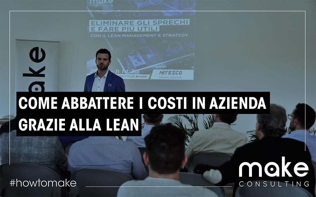 """Come abbattere i costi in azienda grazie al """"pensiero snello"""""""