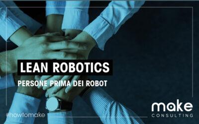 Lean robotics: persone prima dei robot